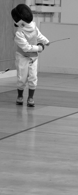 Our young fencer